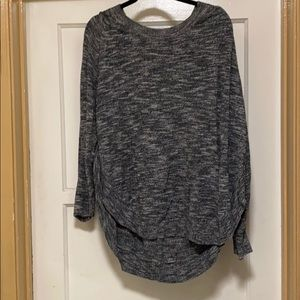 Marked grey sweater with button detail